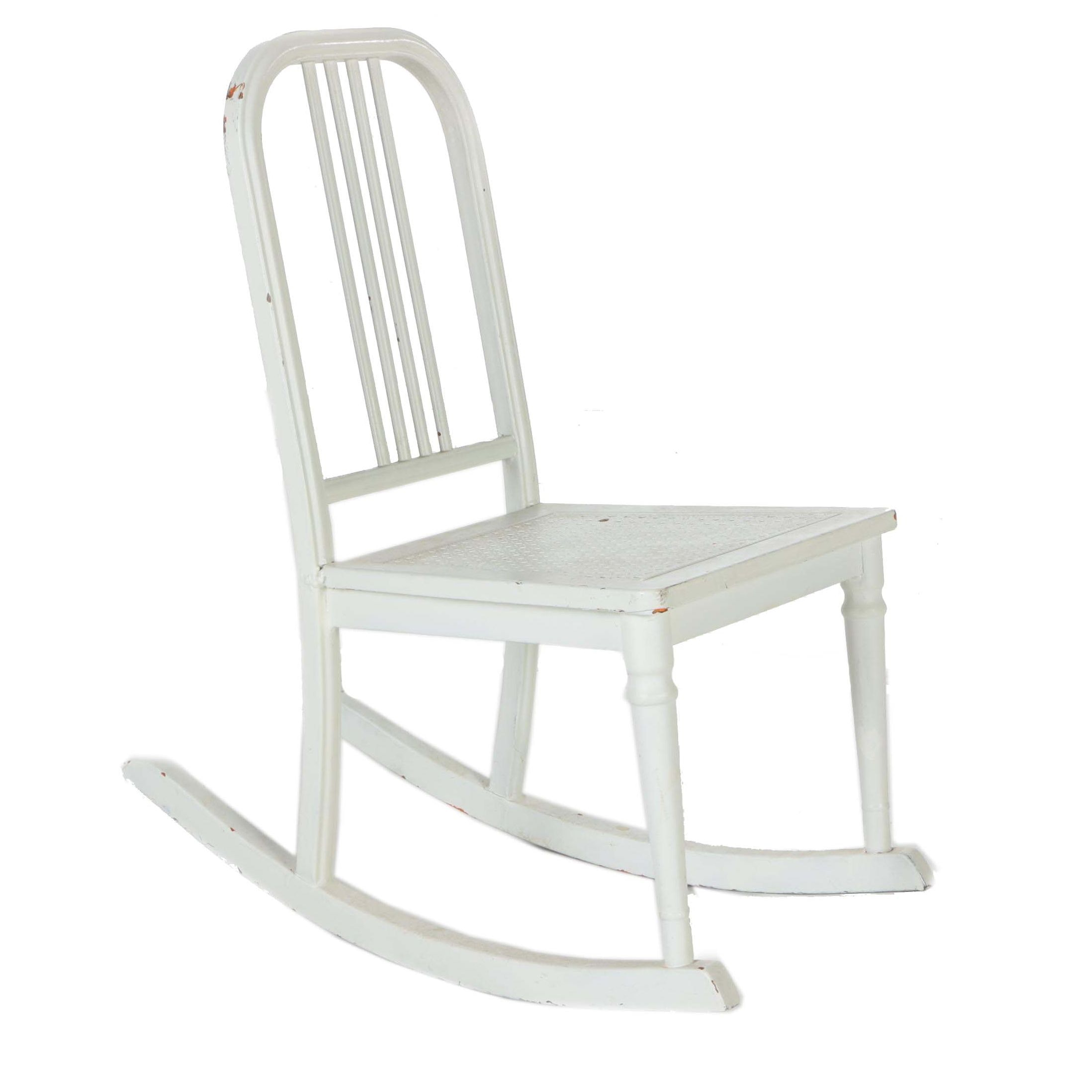 White Metal Rocking Chair