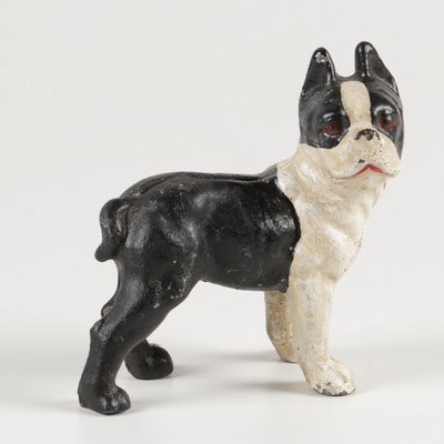 Boston Terrier Cast Iron Bank
