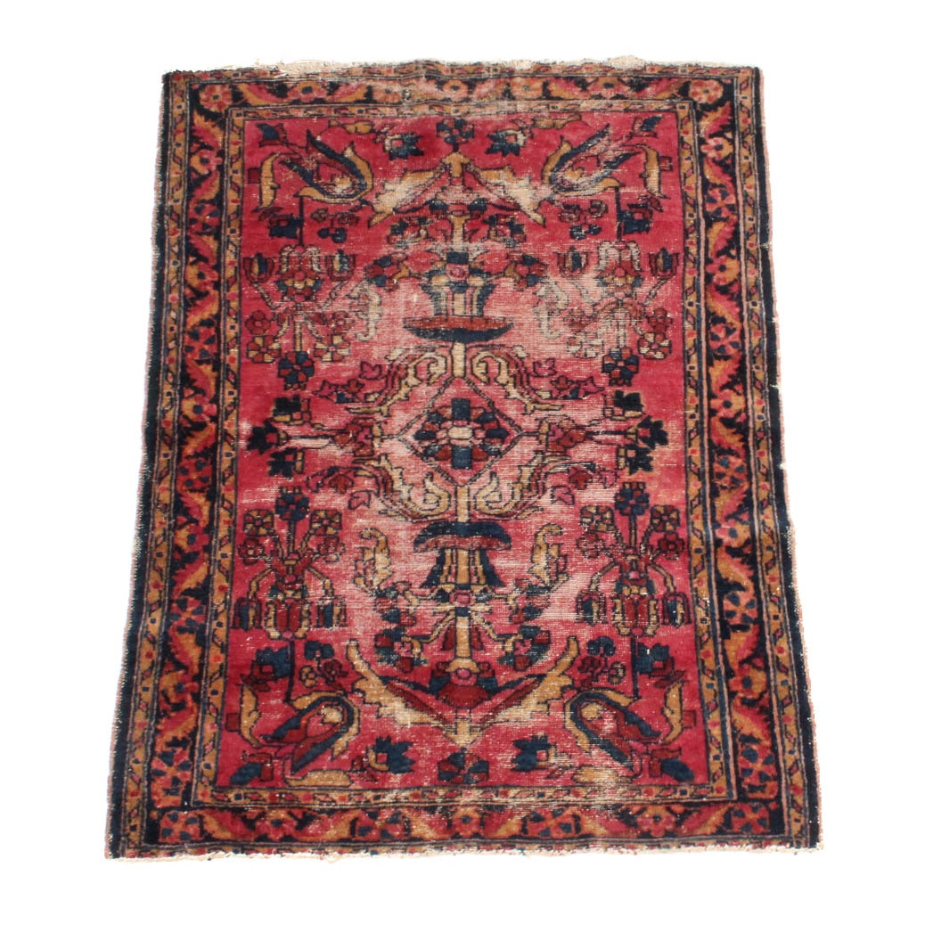 Vintage Hand-Knotted Persian Accent Rug