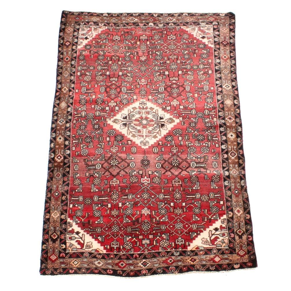 Hand-Knotted Persian Lilihan Sarouk Area Rug