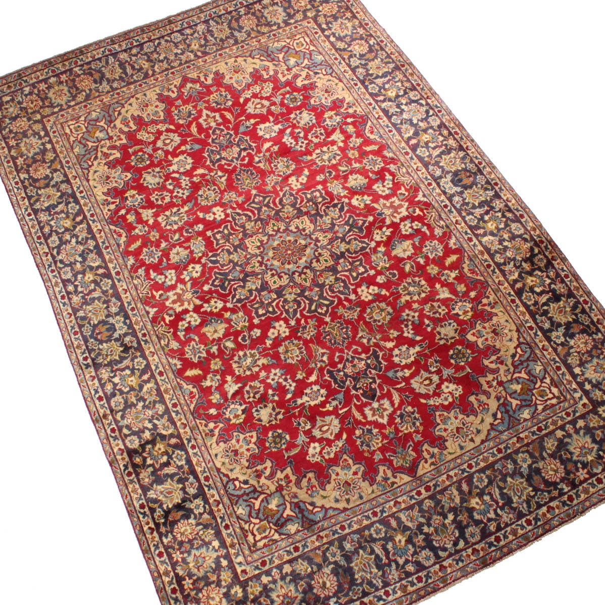 Hand-Knotted Persian Isfahan Room Size Area Rug