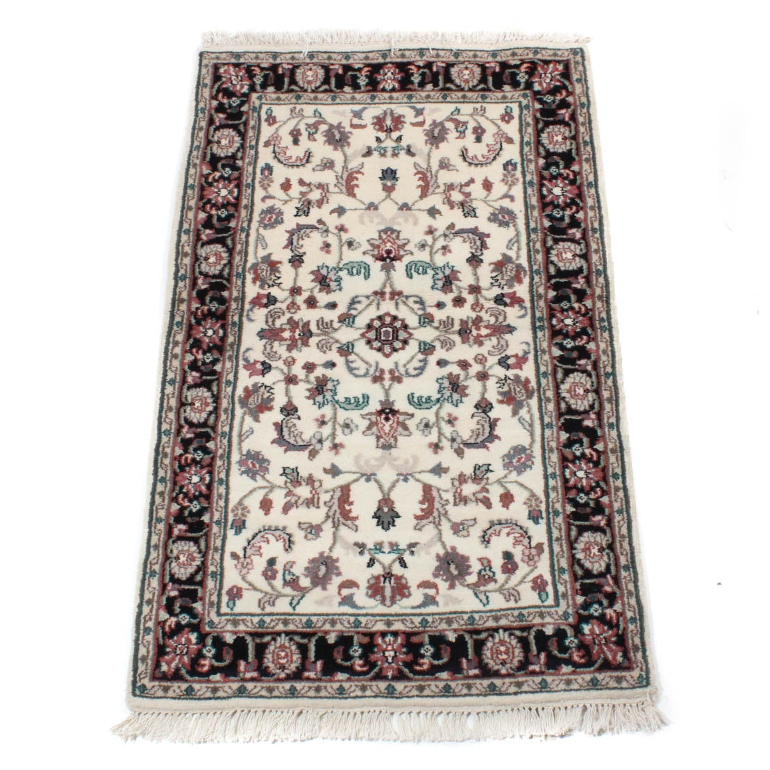 Hand-Knotted Indo-Persian Tabriz Accent Rug