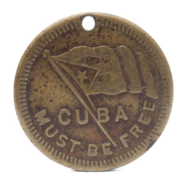 """United States 1898 """"Remember the Maine"""" Brass Token"""
