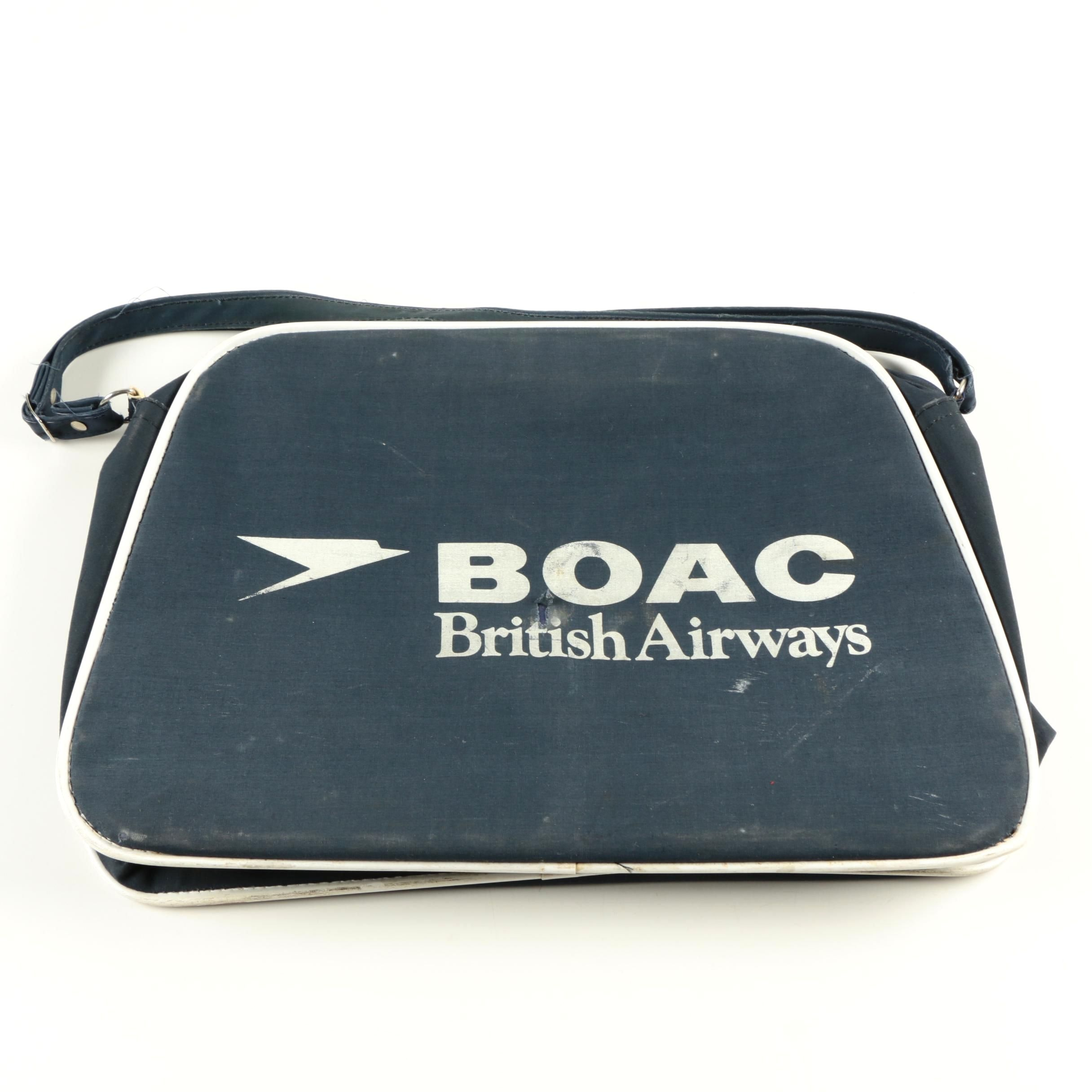 Vintage Boac British Airways Travel Bag