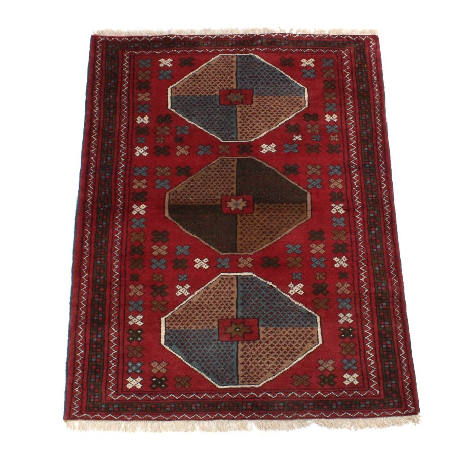 Hand-Knotted Persian Quchan Khorassan Area Rug