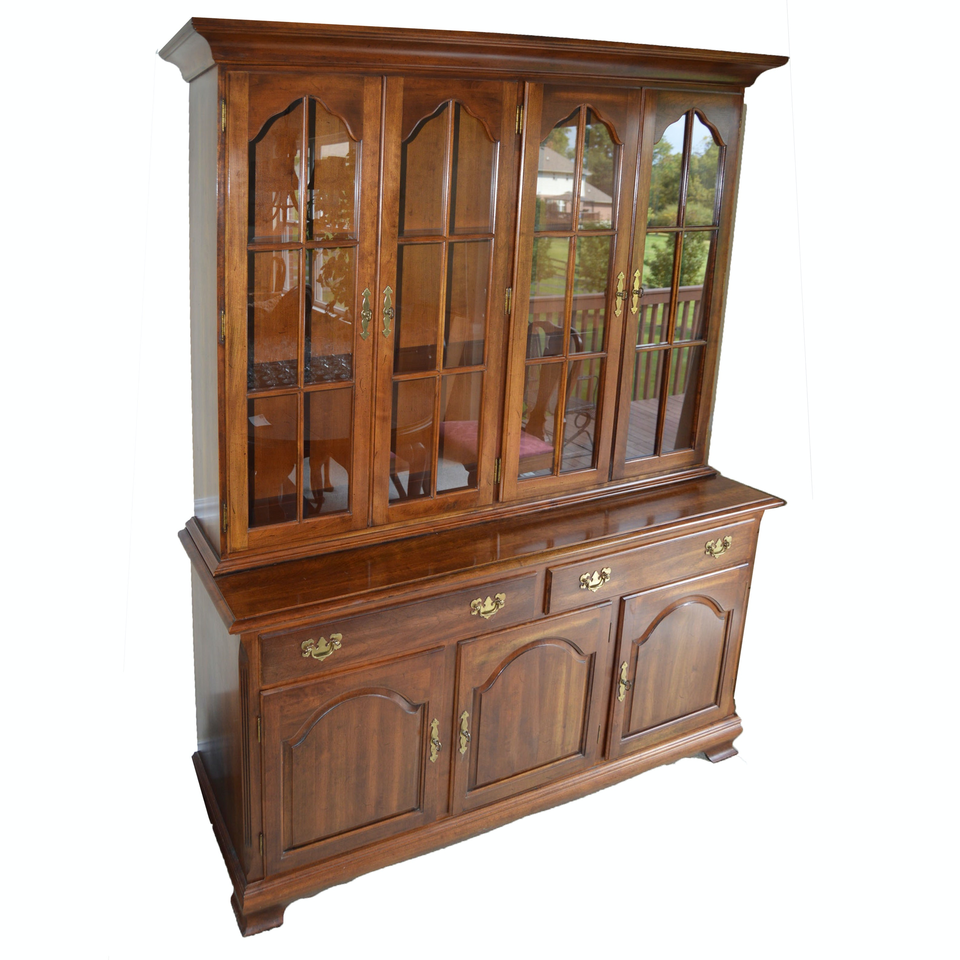 Solid Cherry Dining Hutch by Cresent Furniture