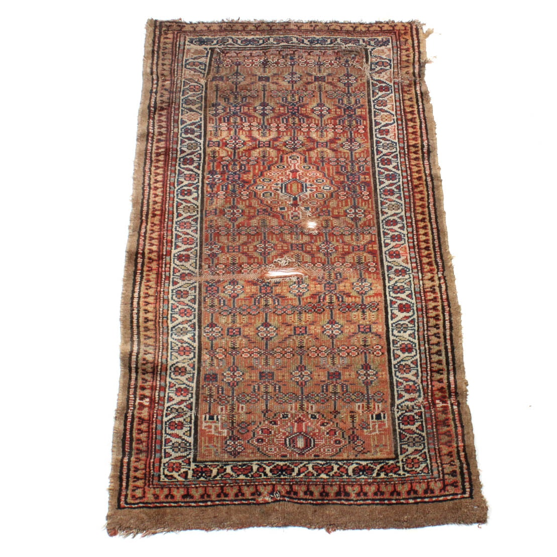 Antique Hand-Knotted Serab Rug