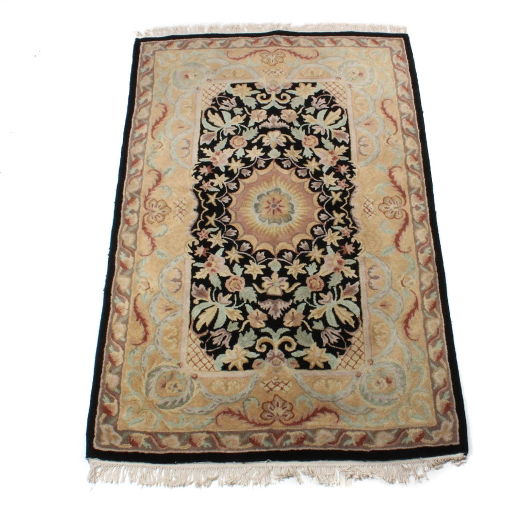 Hand-Tufted Indo-Persian Tabriz Rug
