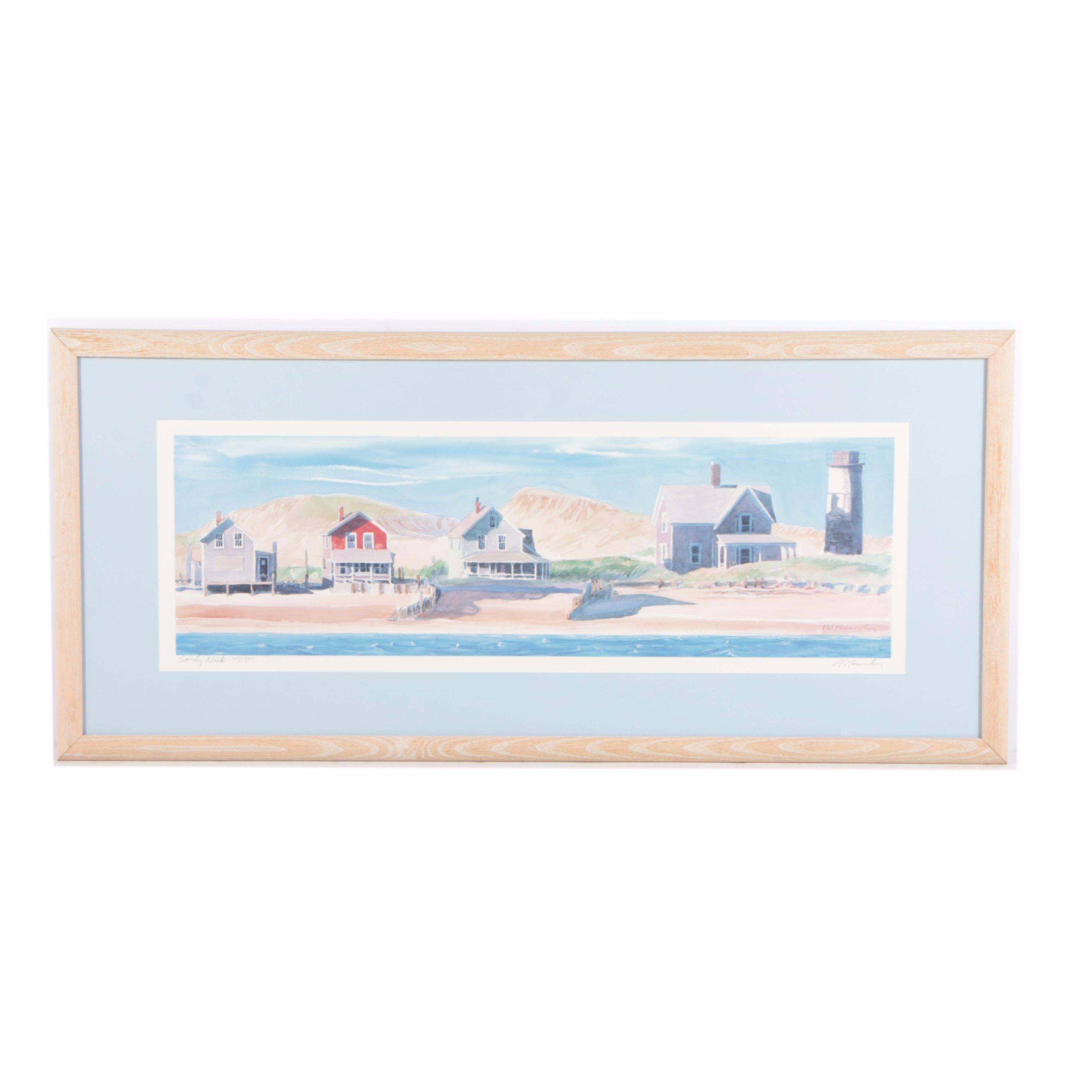 """Robert Kennedy Limited Edition Offset Lithograph on Paper """"Sandy Neck"""""""