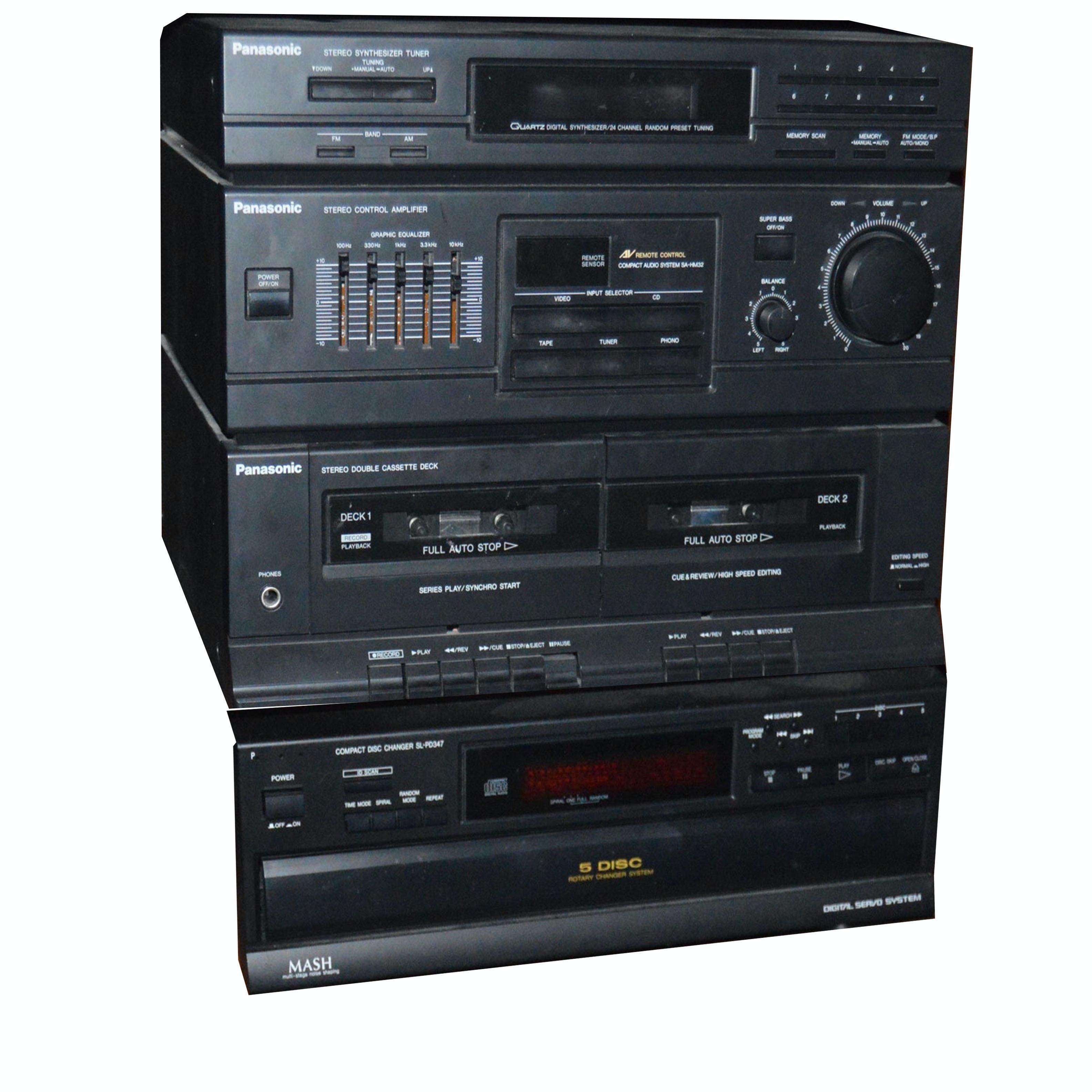 Panasonic and Mash Stereo Components