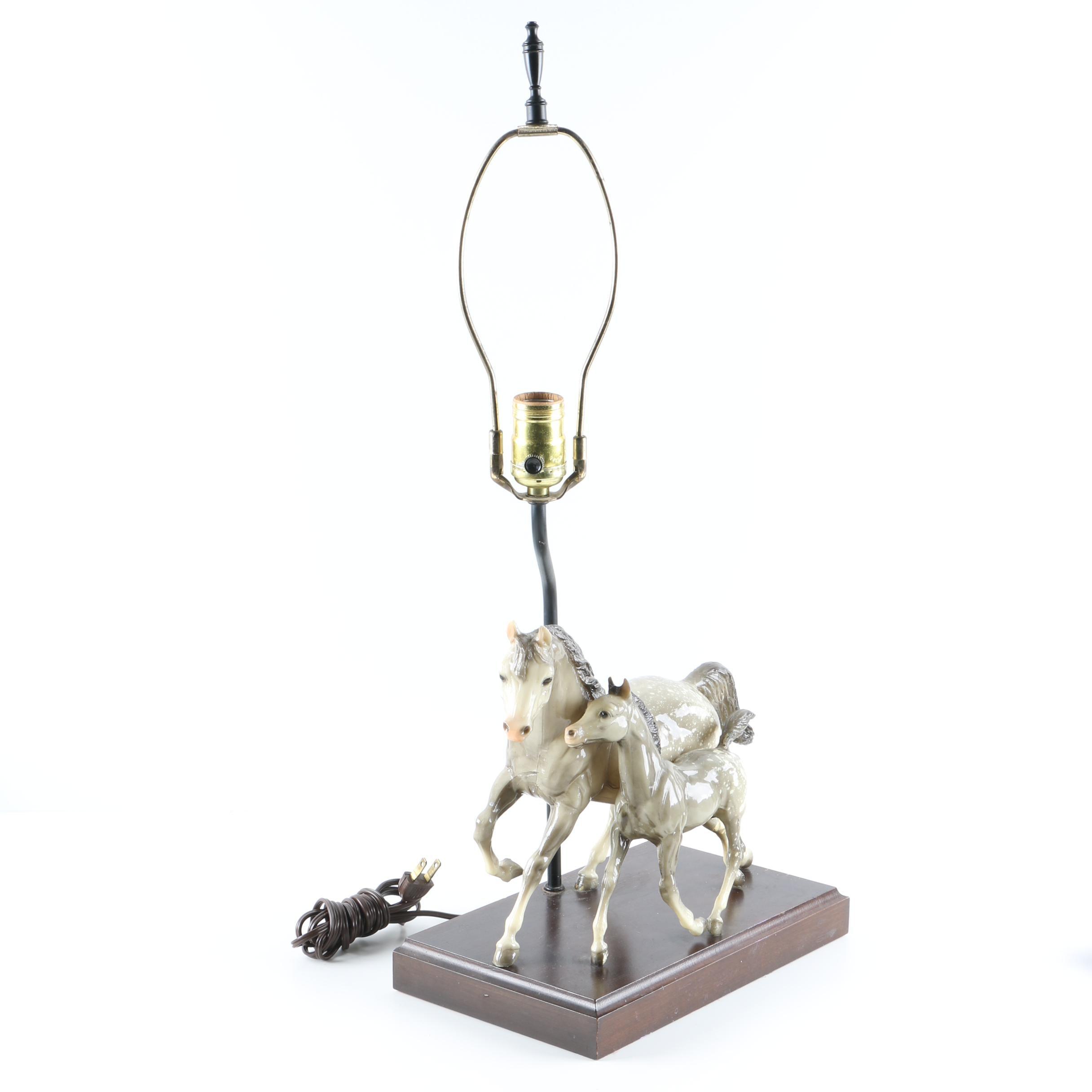 Horses Table Lamp