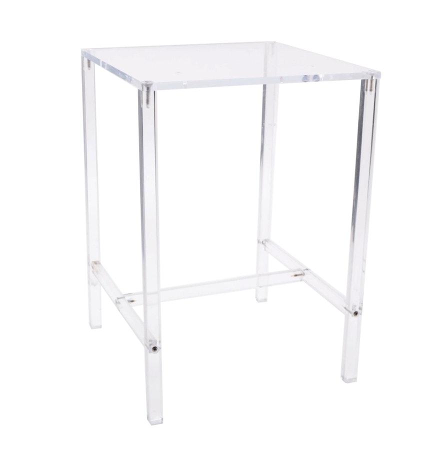 Clear Acrylic Side Table Ebth