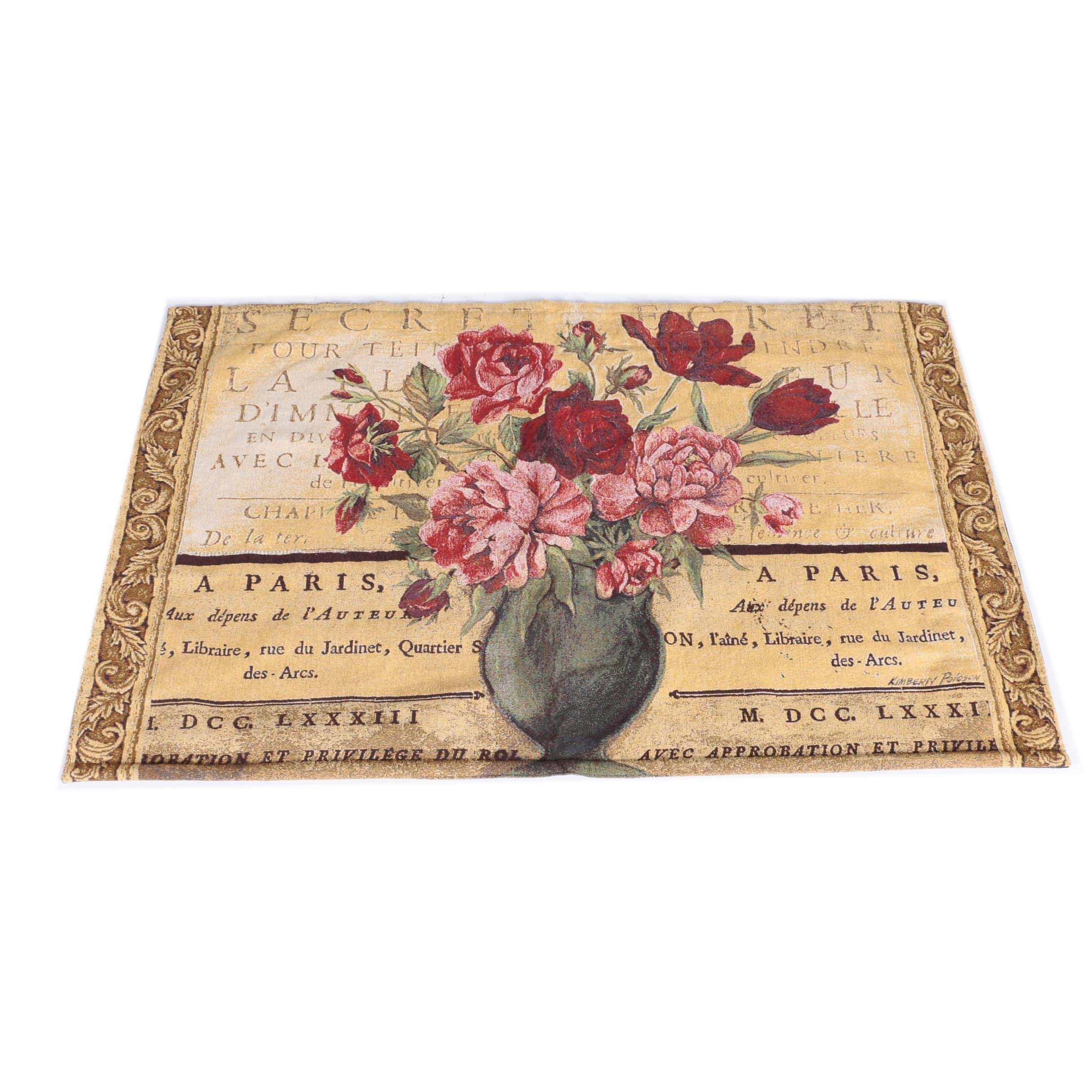 Parisian Tapestry Style Accent Rug
