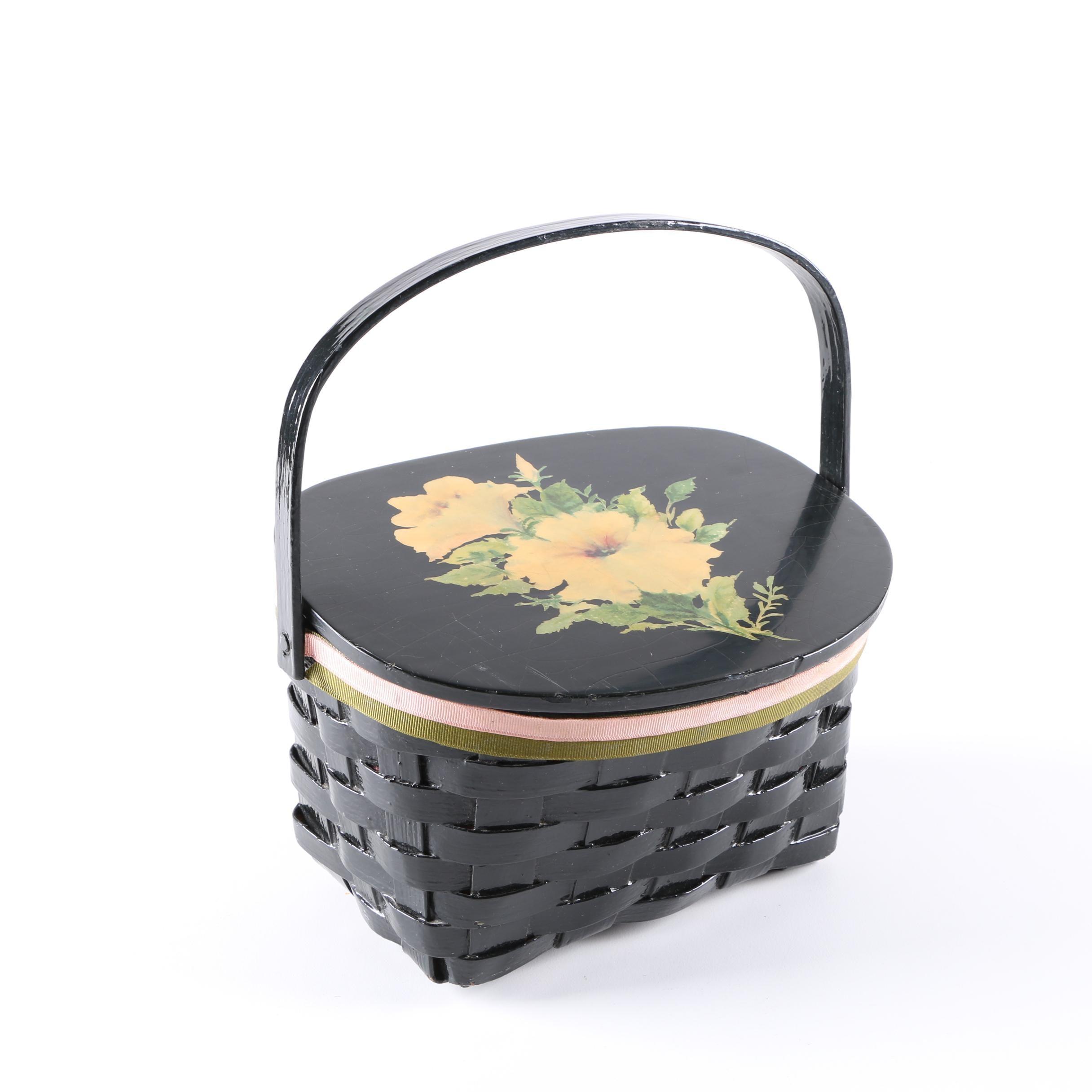 Vintage Woven Basket Handbag