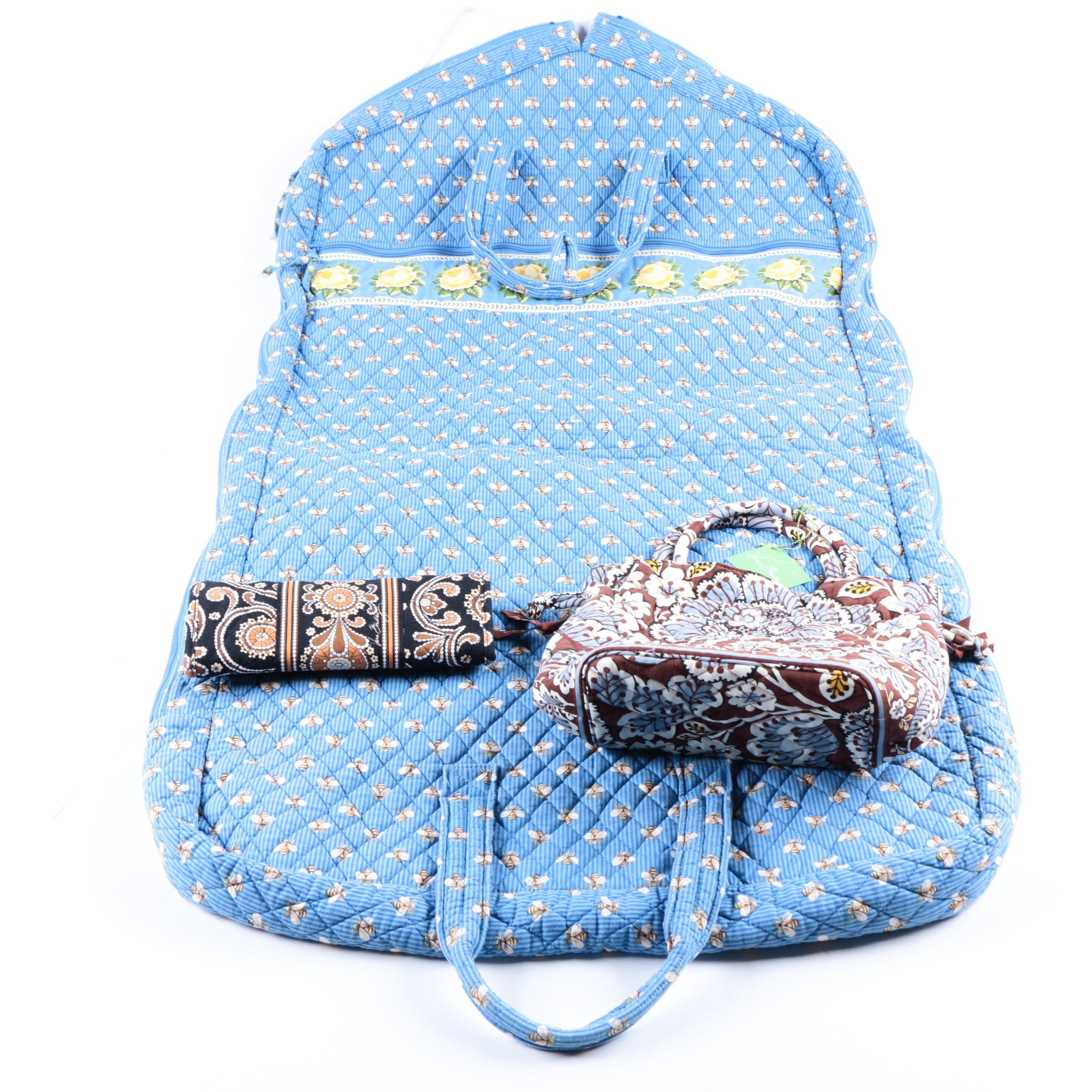Vera Bradley Garment Bag, Tote and Wallet