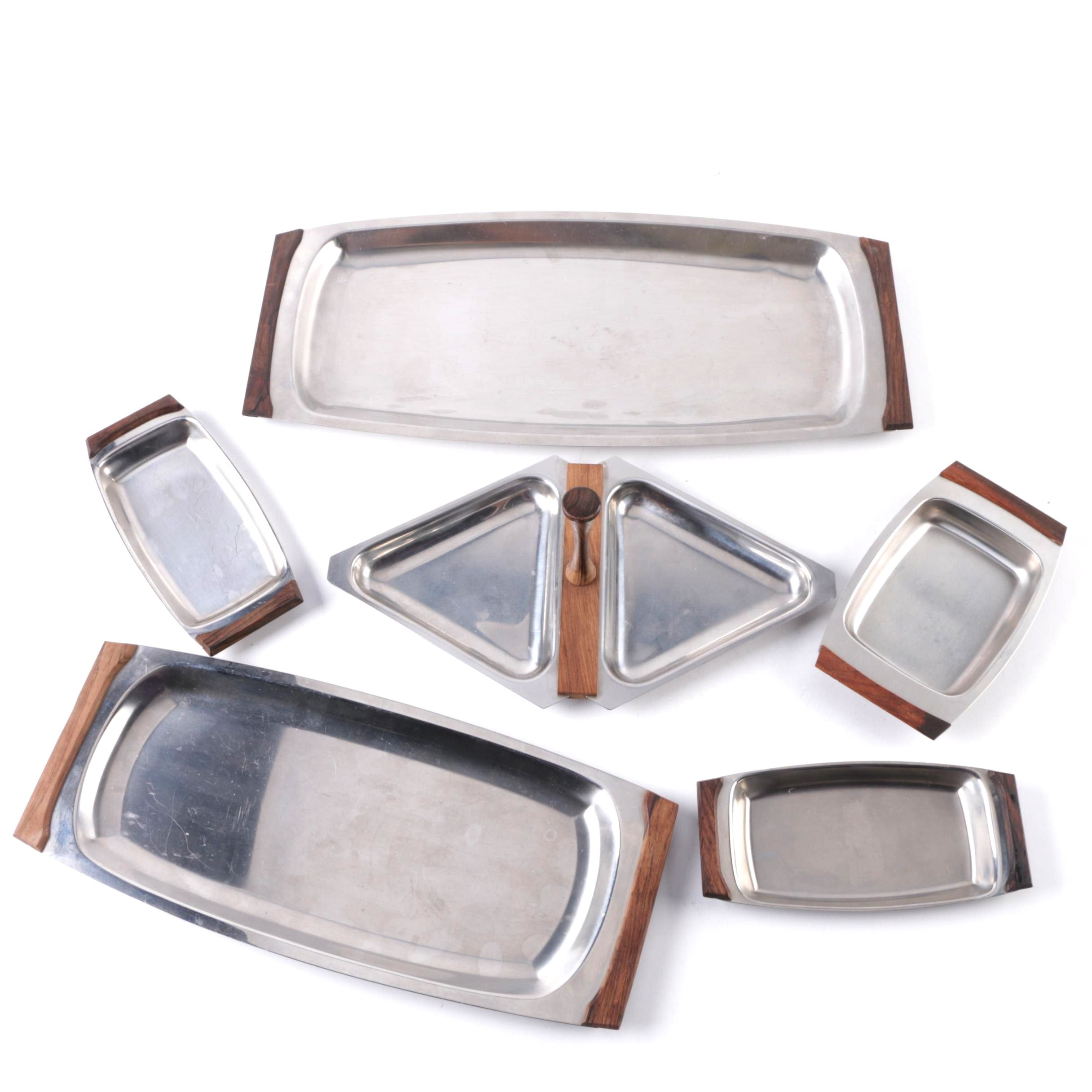 Danish Modern Style Dishes with DKF Lundtofte Trays