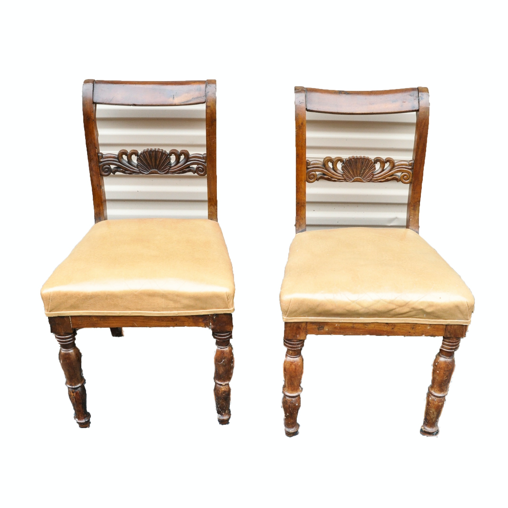 Antique Queen Anne Style Side Chairs