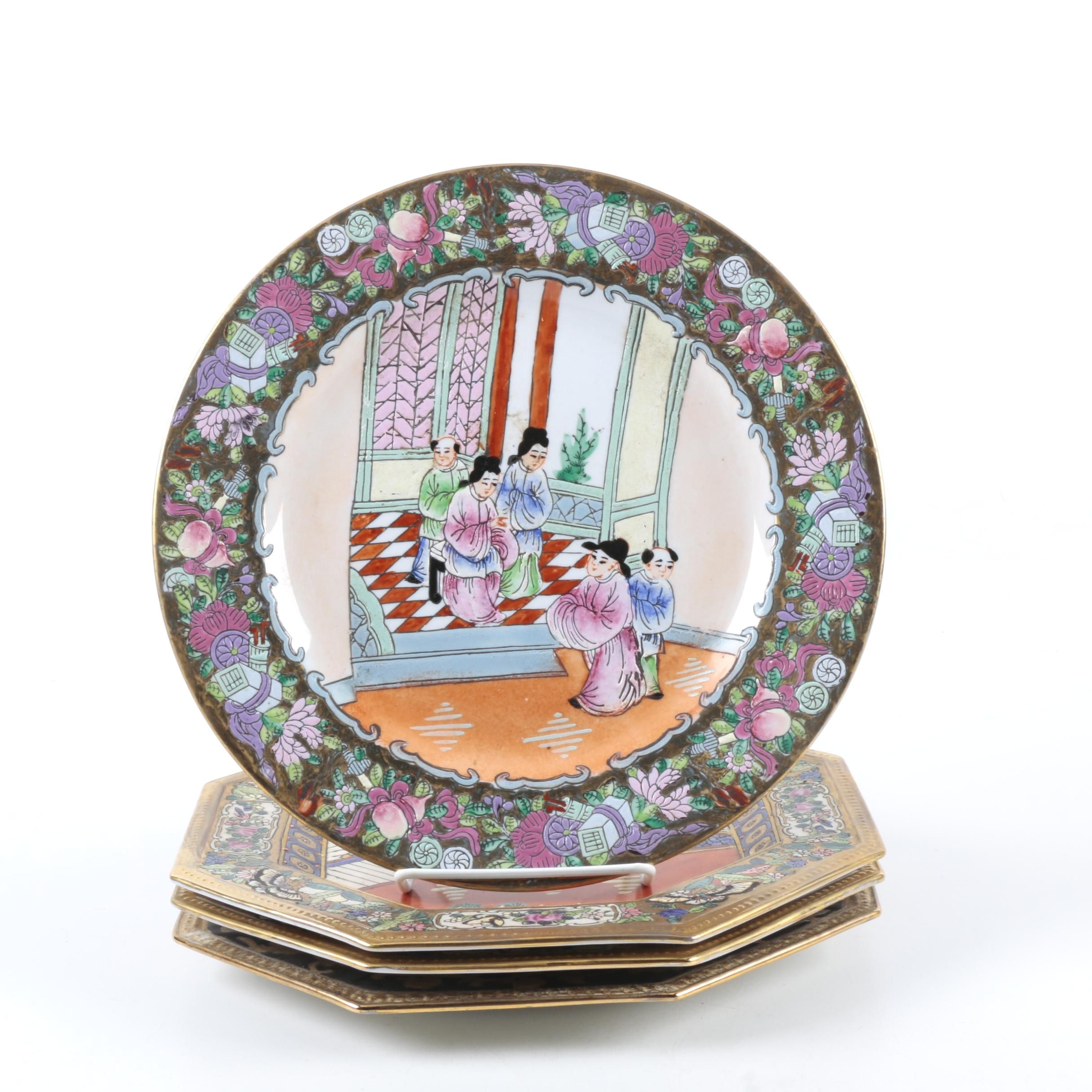 Hand-Painted Chinese Decorative Plates ...  sc 1 st  EBTH.com & Hand-Painted Chinese Decorative Plates : EBTH