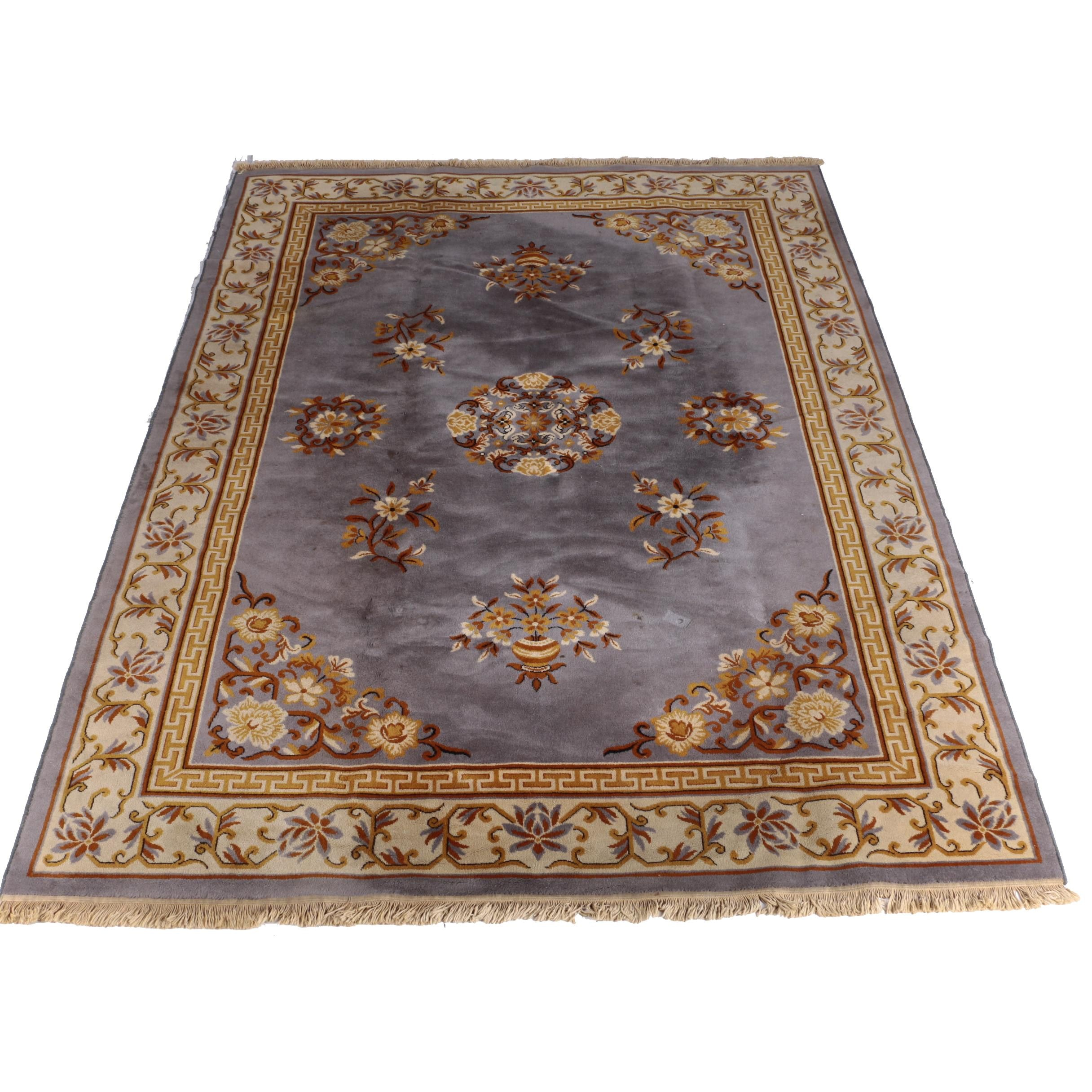 Machine Made Chinese Style Wool Area Rug