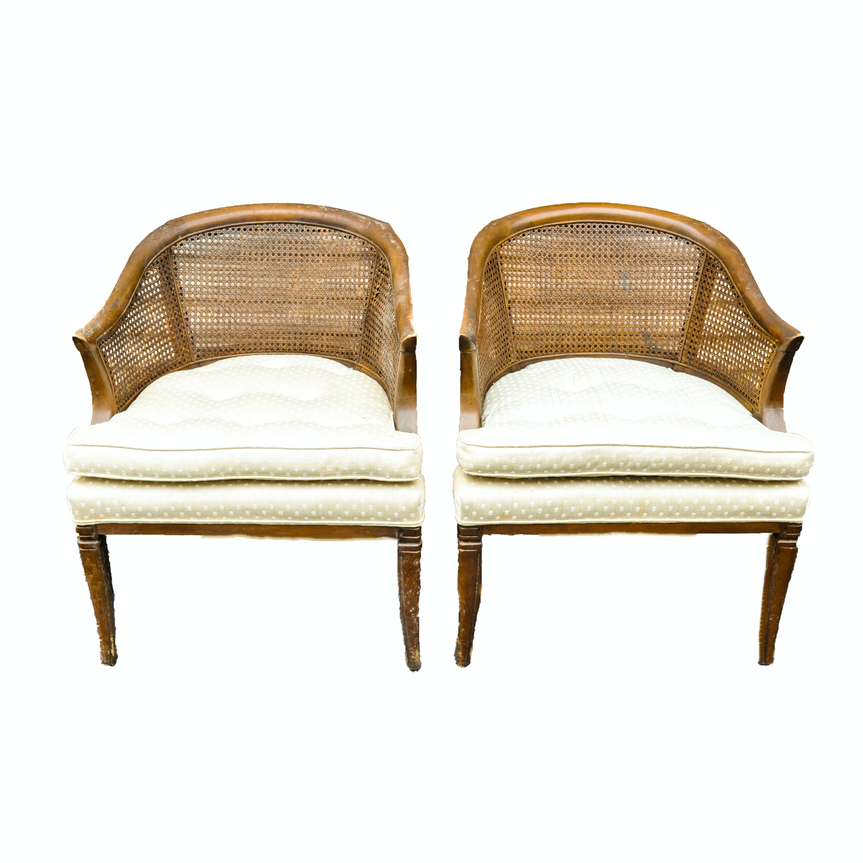 Vintage Cane Barrel Chairs