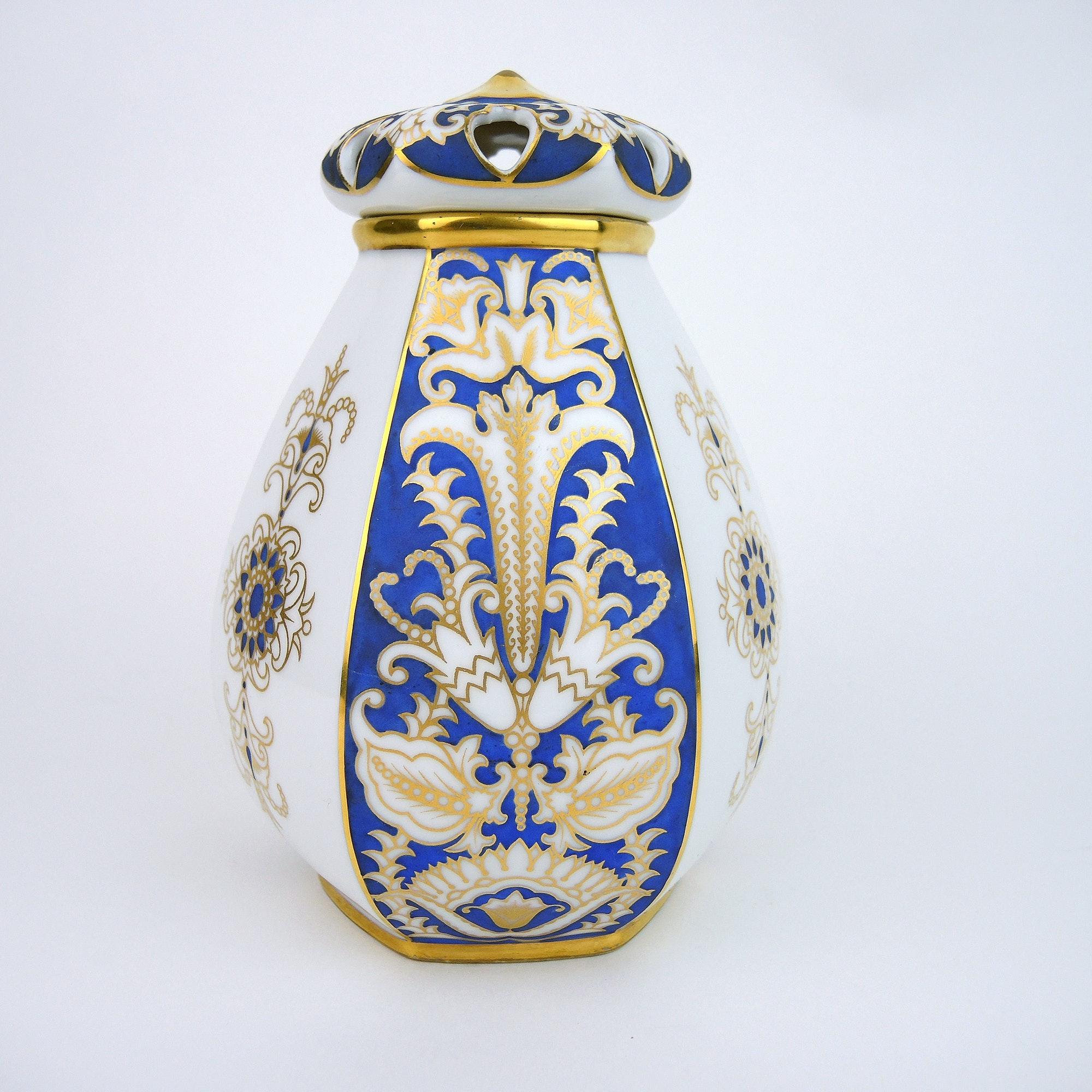 Antique Hutschenreuther Porcelain Potpourri Jar with Lid