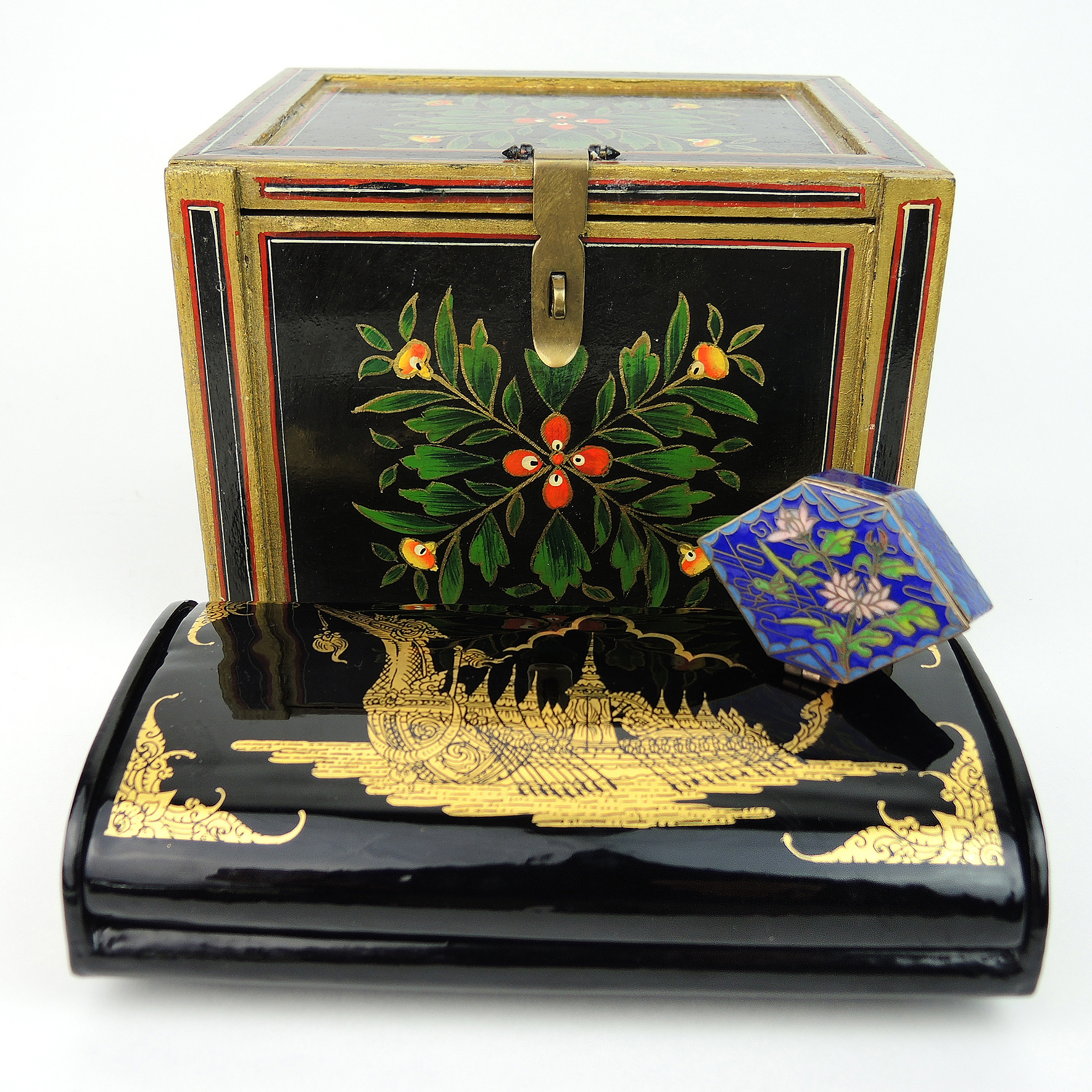 Cloisonne Miniature Trinket Box and Asian Jewelry Boxes EBTH