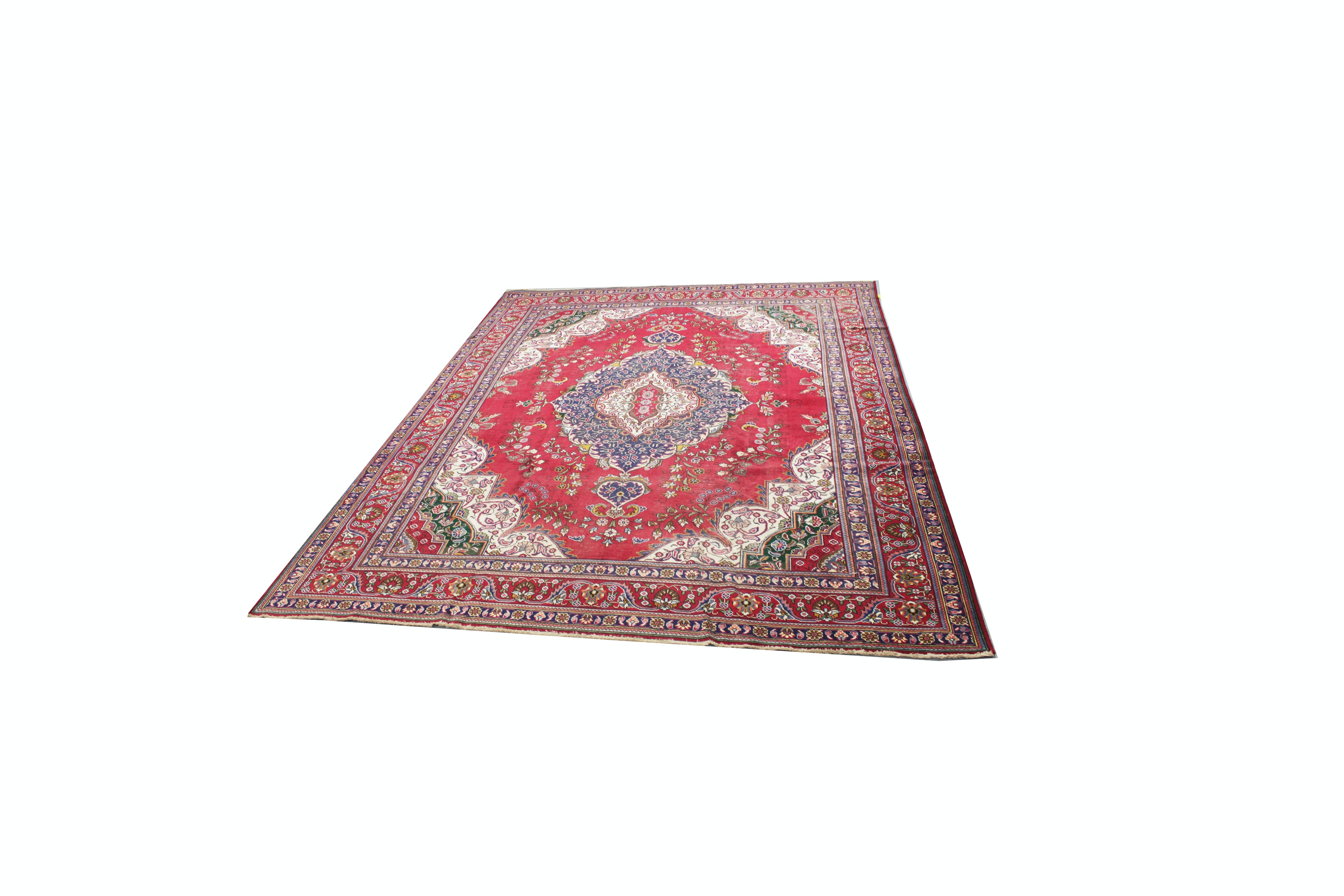 Semi-Antique Hand-Knotted Persian Area Rug