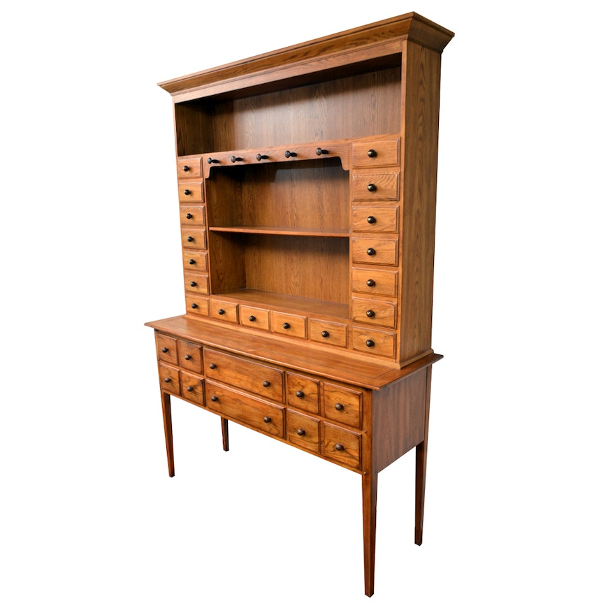 Early American Style Sideboard Cupboard By Lineage Furniture