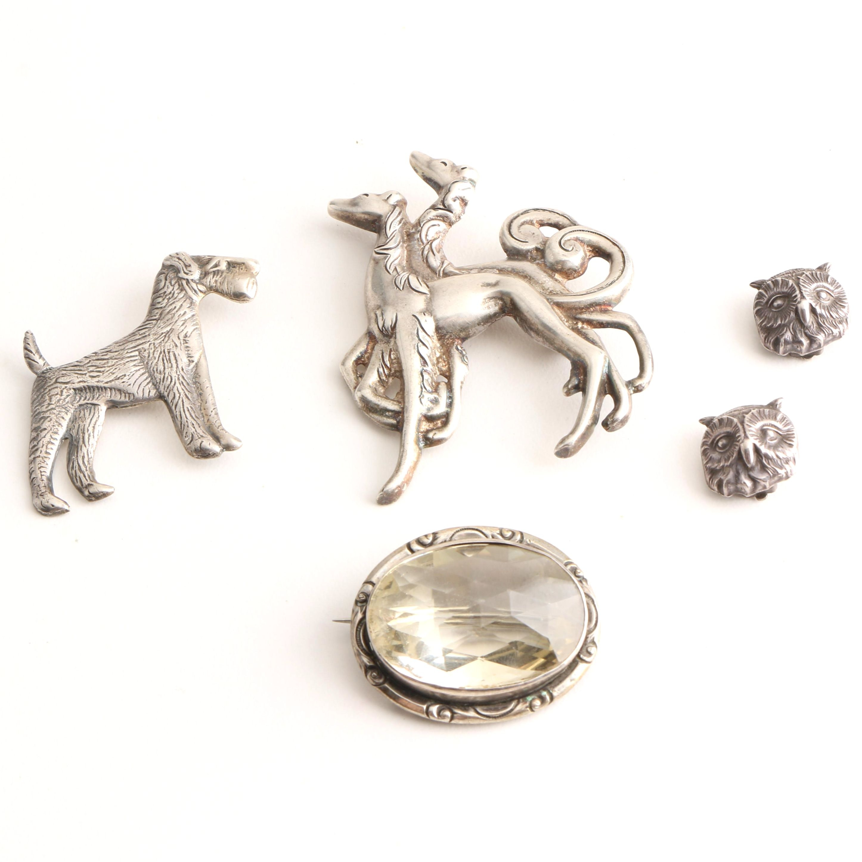 Sterling Silver Jewelry Featuring Citrine and Animal Motifs