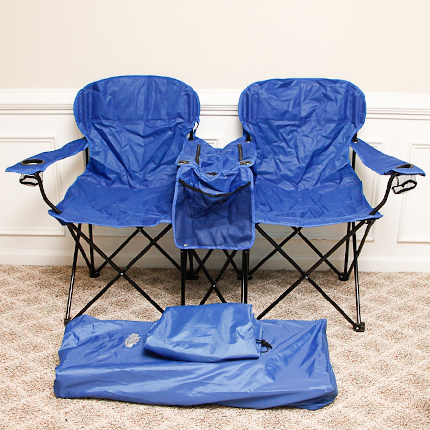 Pleasant Portable Loveseat Lawn Chairs With Built In Coolers From Tailgate Gear Creativecarmelina Interior Chair Design Creativecarmelinacom