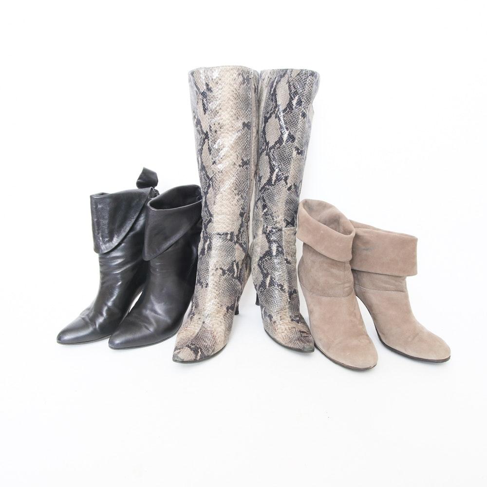 Assortment of Women's Boots Including Albert D. Molina
