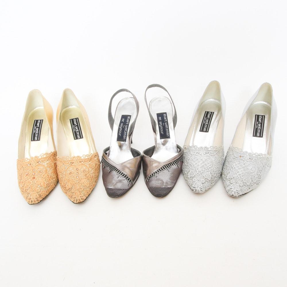 Three Pairs of Stuart Weitzman High Heel Shoes