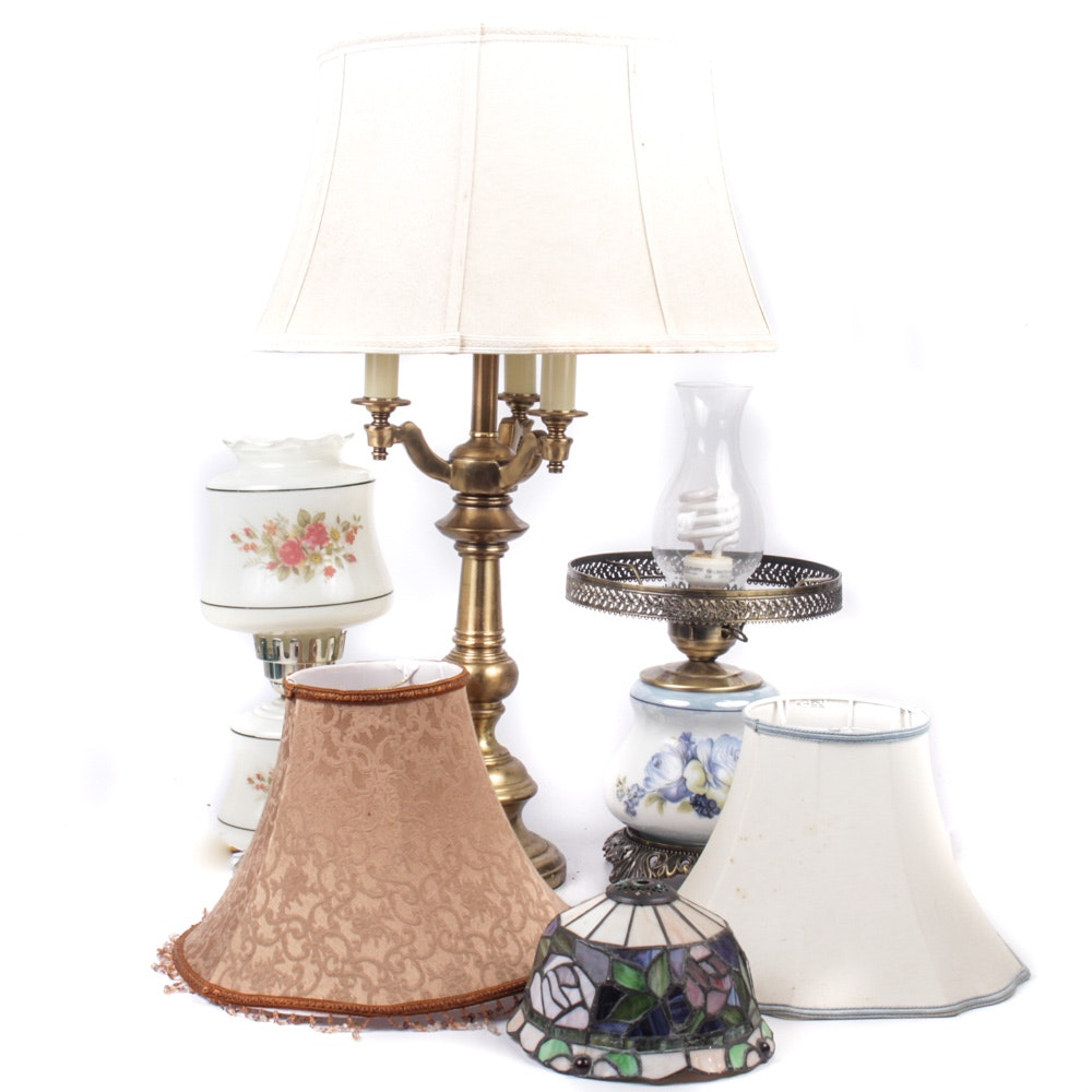 Eclectic Lamp Grouping