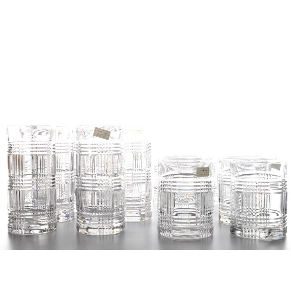 "Ralph Lauren ""Glen Plaid"" Crystal Barware"