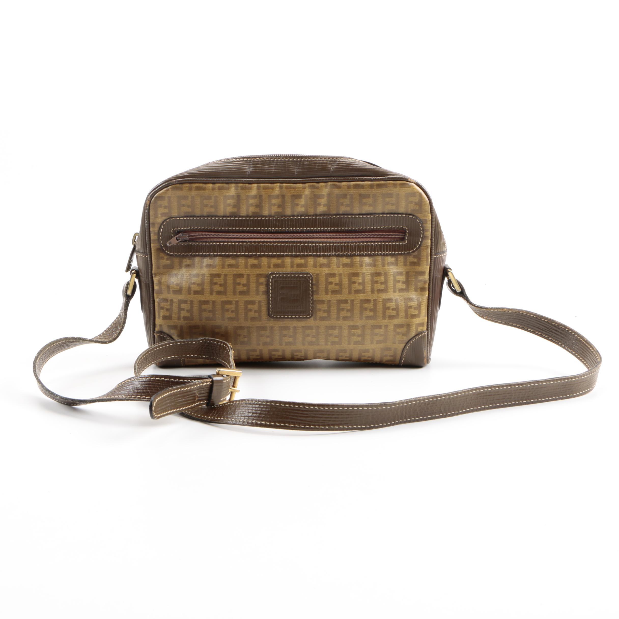 Vintage Fendi Zucchino Crossbody Bag