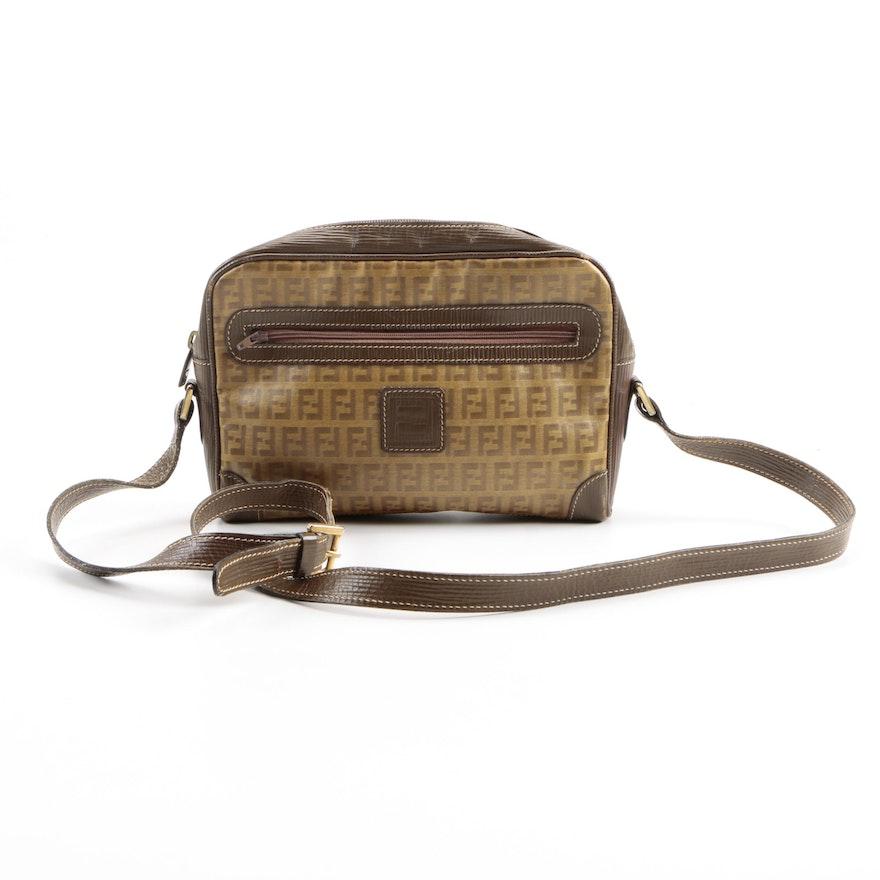 8437e6d2927 Vintage Fendi Zucchino Crossbody Bag : EBTH