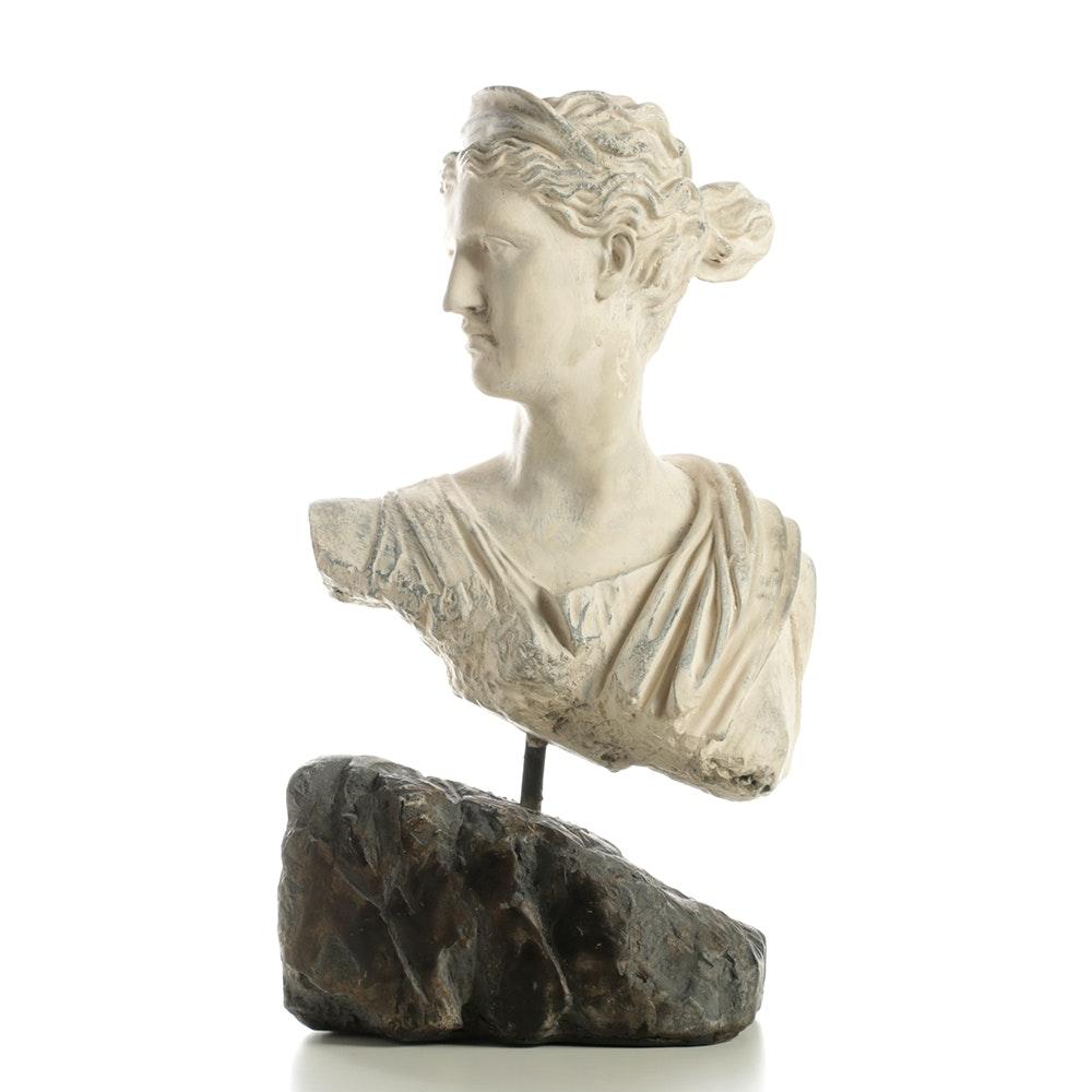 Plaster Bust of Female Profile