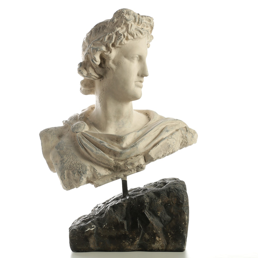 Plaster Bust of Male Profile