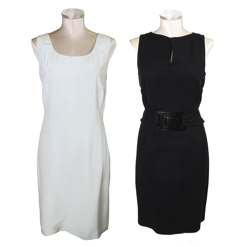 Pair of Black & Mint Green Sleeveless Dresses