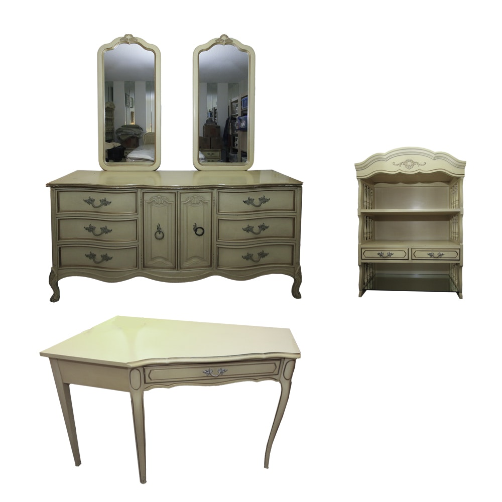 Vintage French Provincial Style Bedroom Set by Dixie