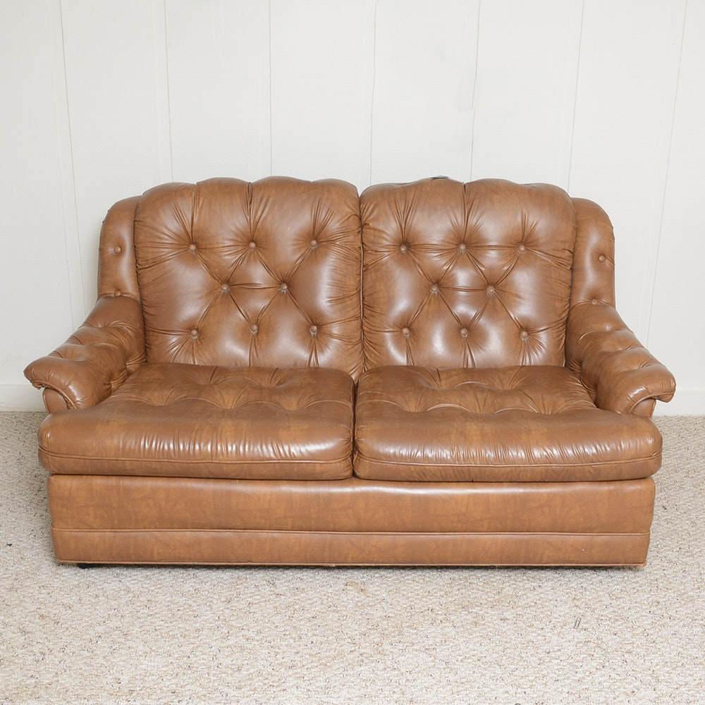 Button Tufted Loveseat by Stratford Designs