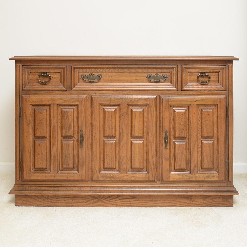 Mid-Century Oak Sideboard by Drew Furniture