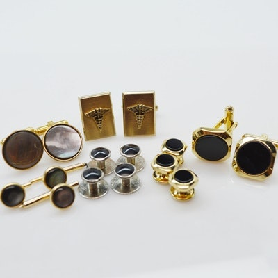 Costume Cuff Links and Shirt Studs