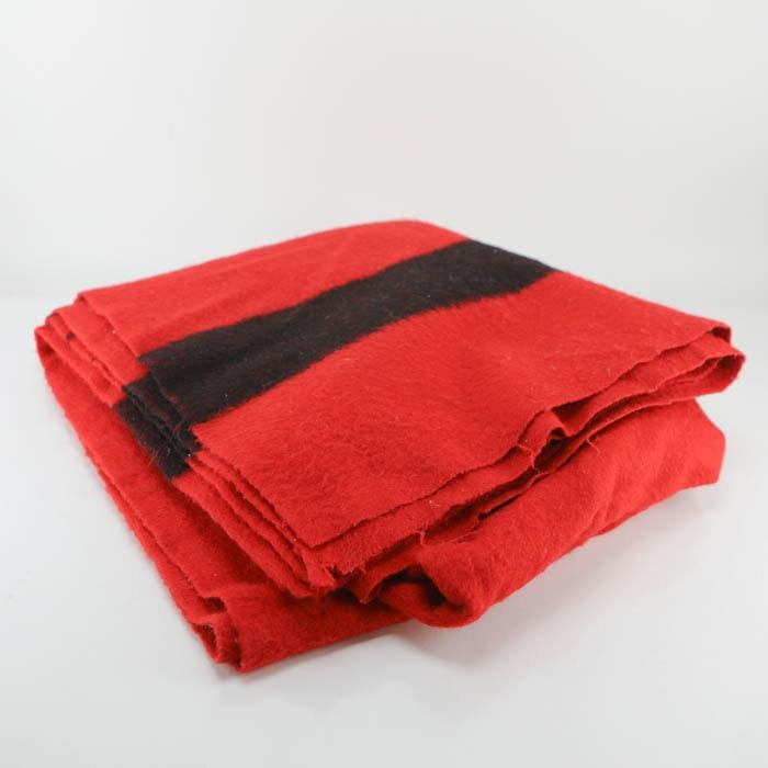 Vintage Hudson's Bay Point 100% Wool Blanket