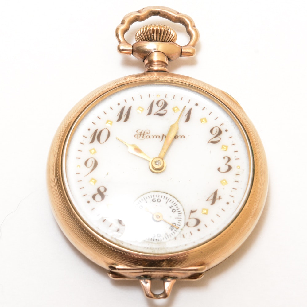 """Gold Filled Hampden """"Convertible"""" Watch"""