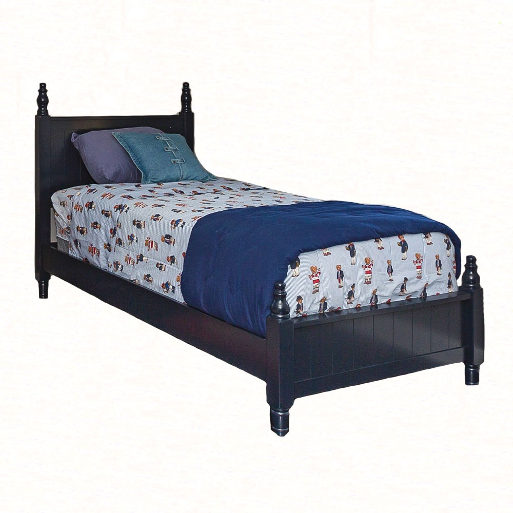 Cottage Style Navy Blue Twin Size Bed by Coaster