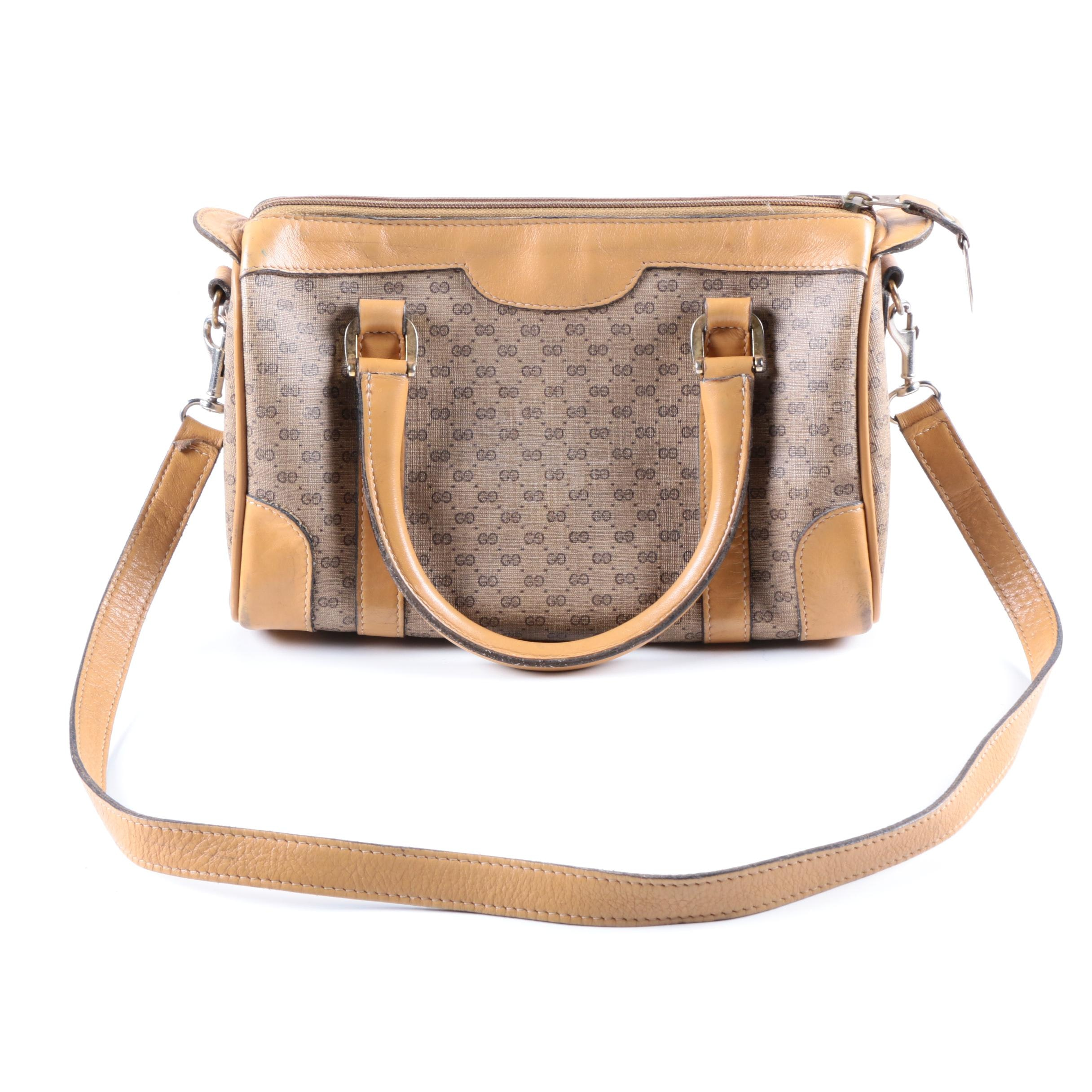 Gucci Monogrammed Canvas Bag