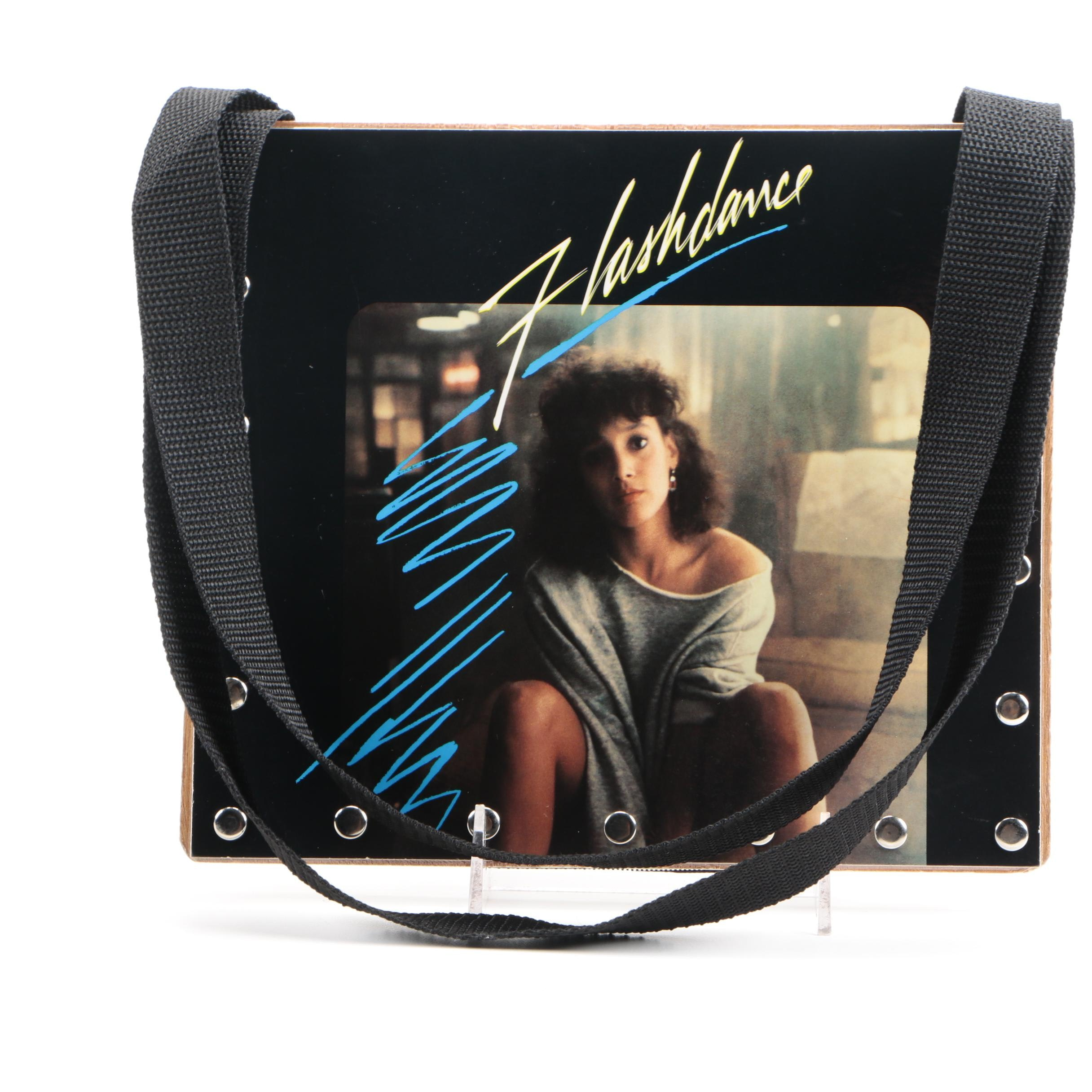 Vintage Flashdance Official Soundtrack Vinyl Record Artisan Handbag