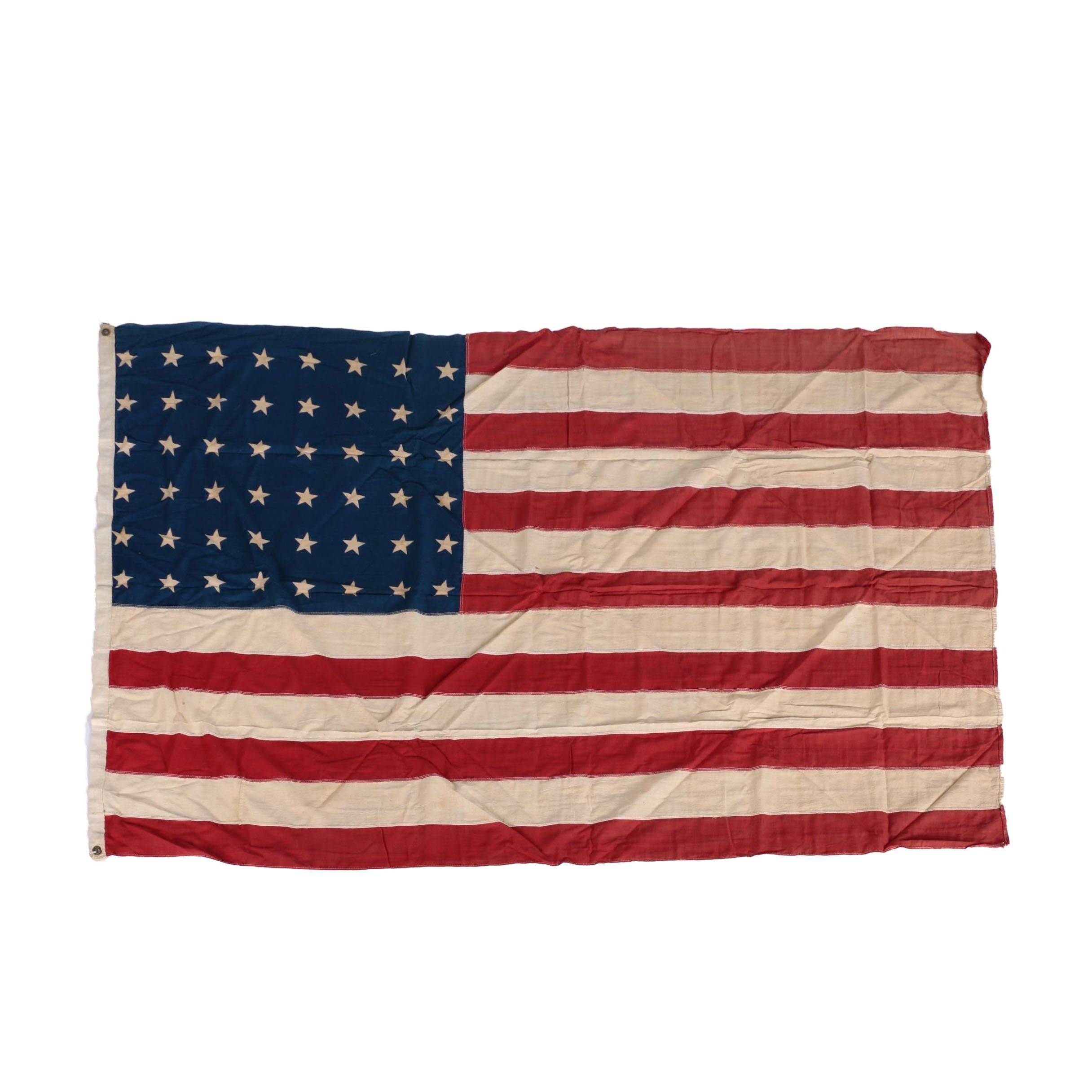 Vintage 48 Star Cloth American Flag