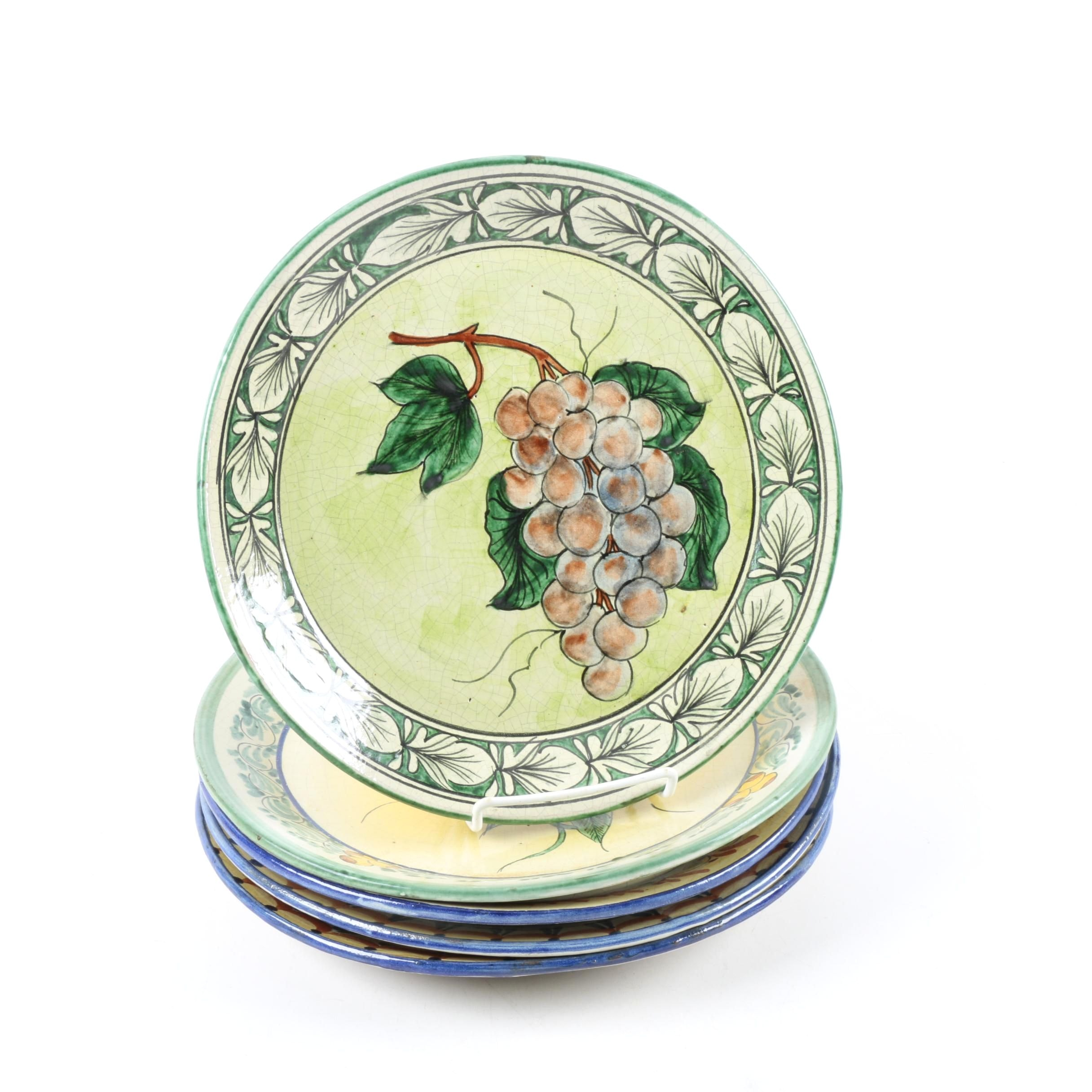 Fruit and Vegetable Themed Ceramic Plates